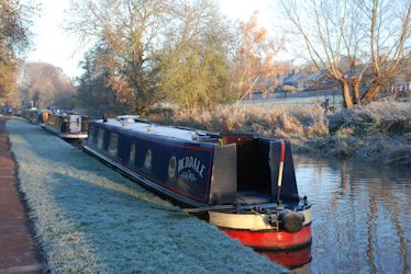 Debdale moored at Stone on a frosty November mornin